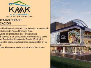 Centro comercial KAVAK PLAZA a la venta SAN ISIDRO en Santo Domingo Oriental