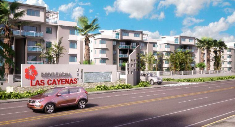 ApartamentoS en etapa 1,2,3,4,5,6,7,8,9,10 en las Cayenas en Autopista San Isidro