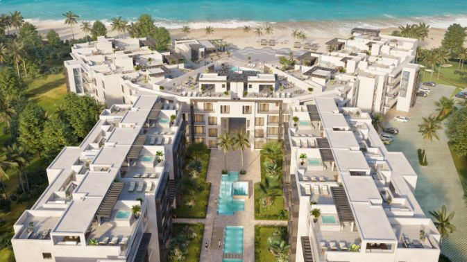 Residenciales de 1,2,3 Dormitorios Beachfront playa en Bavaro