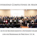 I Acto de Reconocimiento a Entidades Colaboradoras con los Programas de Prácticas UCM