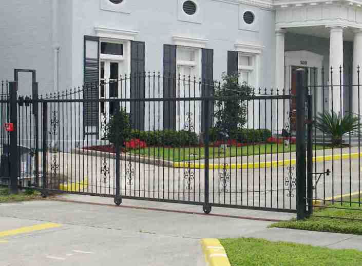 Iron Roll Gate in New Orleans for a Funeral Home.