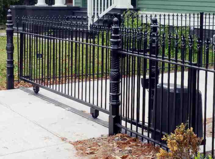 Iron Roll Gate in New Orleans for a Single Driveway.