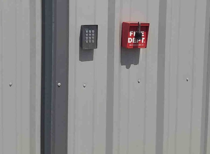 Keypad for an Automatic, Slide Roll Sheet Metal Gate in New Orleans East.