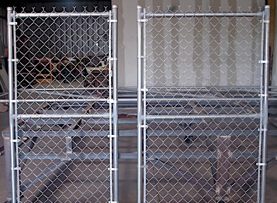 Walk-Through Chain-Link Gate. Custom Fabricated.