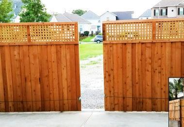 Automatic Sliding Wood Gates