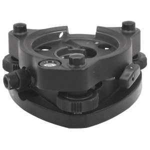 05-1200 Swiss-Style Tribrach with Optical Plummet, Black