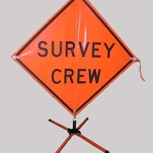 "48"" Survey Crew Ahead Sign"