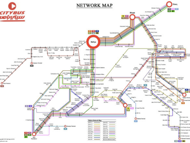 Citybus Network Map