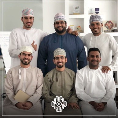 "The production team of ""We Deserve It"" (al-Moatasem al-Mamari"