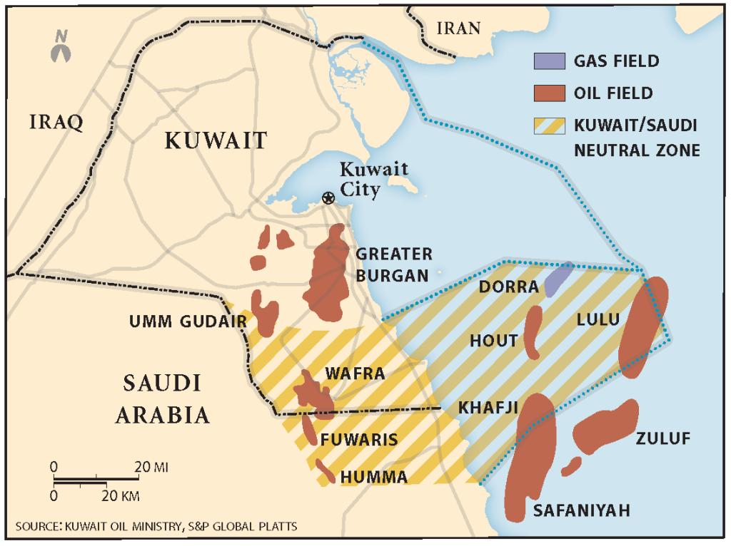 Kuwaiti-Saudi Neutral Zone (Source: Kuwait Oil Ministry, S&P Global Platts)