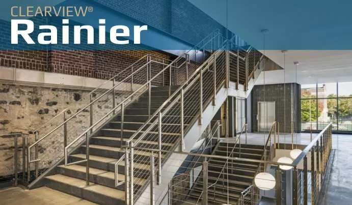Beautiful Stainless Steel Railing Systems Custom Made For Easy | Cable Stair Railing Indoor | Exterior Irregular Stair | Vertical | Wood | 90 Degree Stair | Stainless