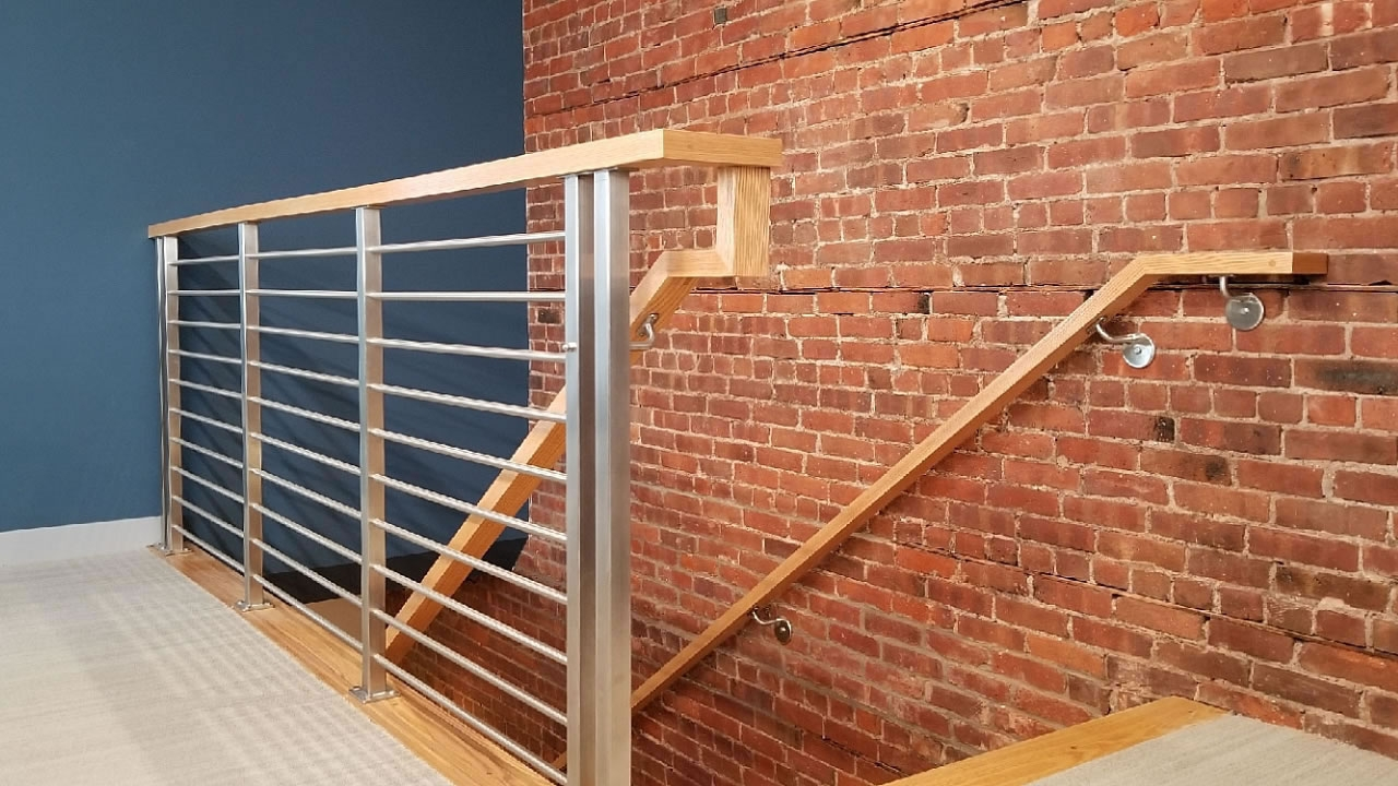 Olympus Horizontal Bar An Industry First Free Estimate   Pre Made Stair Railings   Porch   Pressure Treated   Stair Treads   Aluminum Railing   Stair Stringers