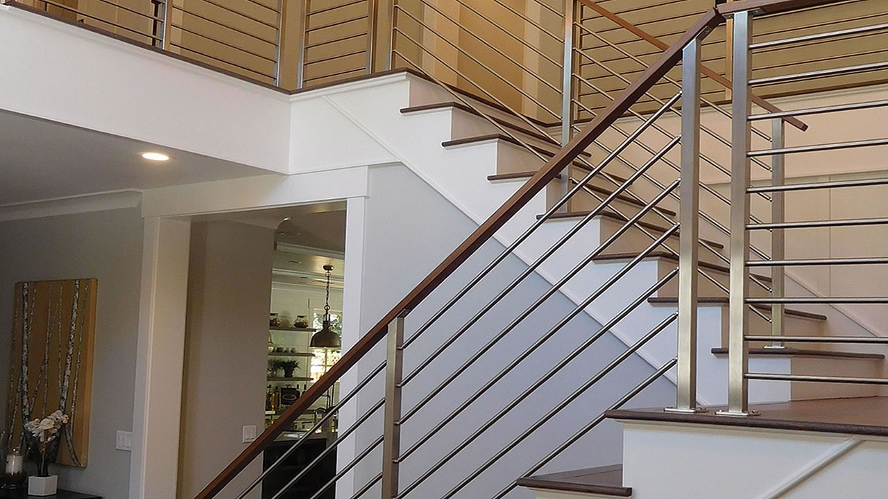 Olympus Horizontal Bar An Industry First Free Estimate   Horizontal Iron Stair Railing   Chris Loves   Modern   Popular   Low Cost   Remodel