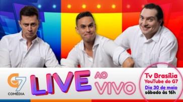 G7 Ao Vivo – Live de comédia para animar seu sábado