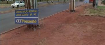 Situação precária de calçadas causas acidentes em Águas Claras