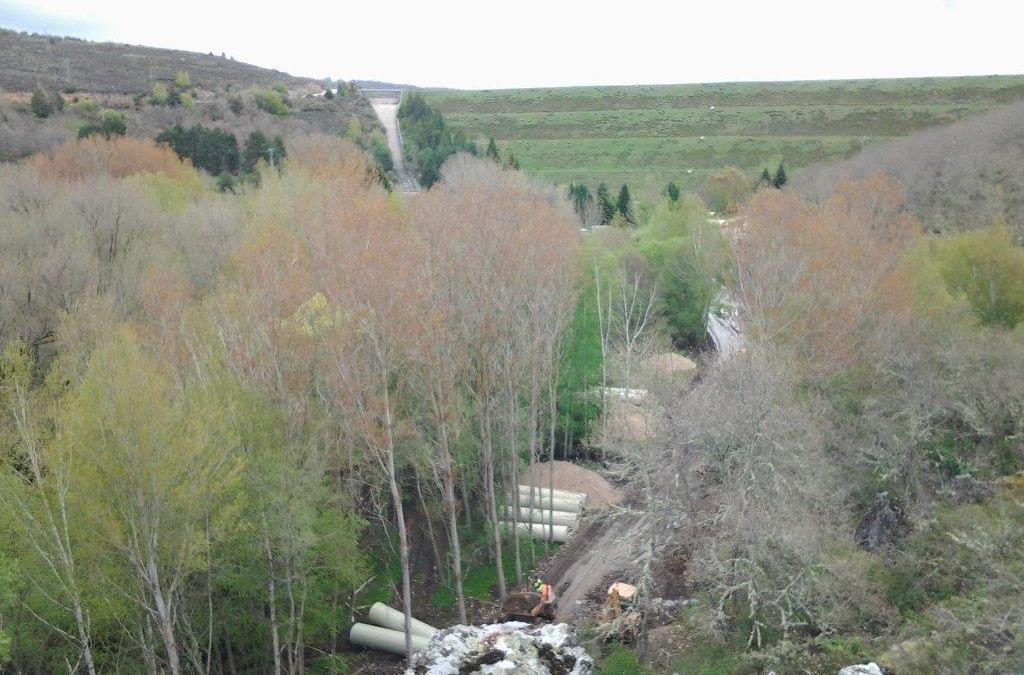 Conducción tuberías embalse de Úzquiza a toma de Villasur