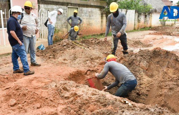 AVANZA LA CONSTRUCCIÓN DEL SISTEMA DE ALCANTARILLADO SANITARIO EN SAN BENITO ABAD.