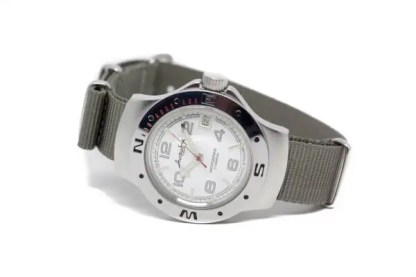 18mm gray nylon watch strap