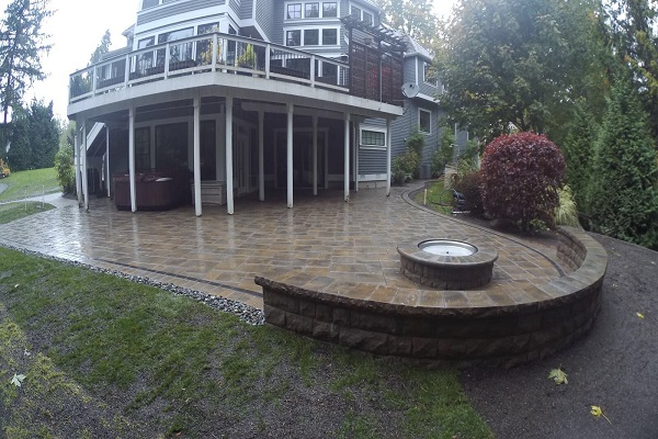 paver patio fire pit and wall expert