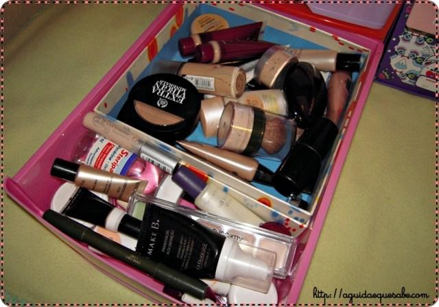 organizar maquilhagem