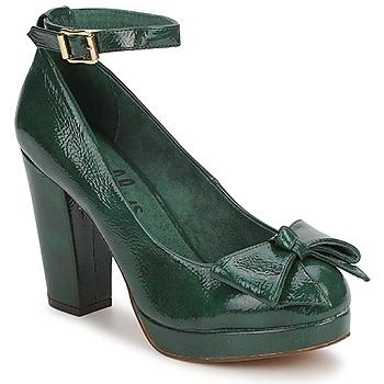 shelly's spartoo sapatos pumps salto alto verde esmeralda pantone