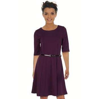 vestido beringela roxo spartoo vila short dress