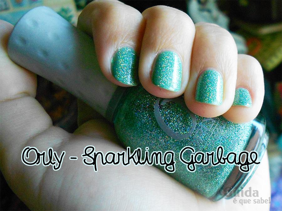 sparkling garbage orly verniz esmalte manicure unhas nails moda beauty makeup maquilhagem beleza review swatch opinião purpurinas brilhantes mermaid sereia