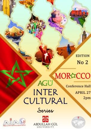 Abdullah Gül University, AGU, Intercultural Series, Second Edition, Morocco, Conference Hall, April, AGU International Association, Student Club, International Office
