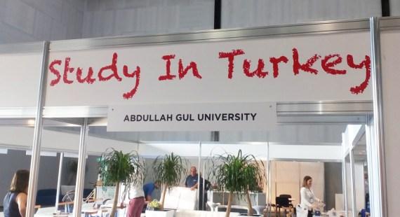 Abdullah Gül University, AGU, EAIE, 2016, Conference, Study in Turkey, Pavilion