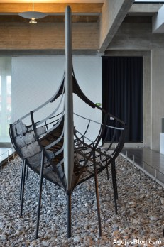 Five Viking ships were sunk in the fjord to create a barrier against invaders. The ships were made out of oak, pine, lime, ash and birch.