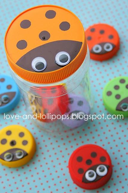 Bottle Top Ladybug Jar