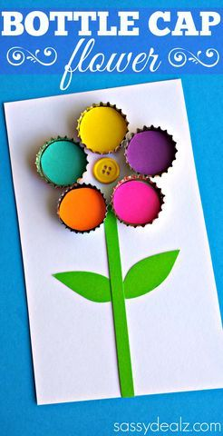 diy flor reciclando chapas