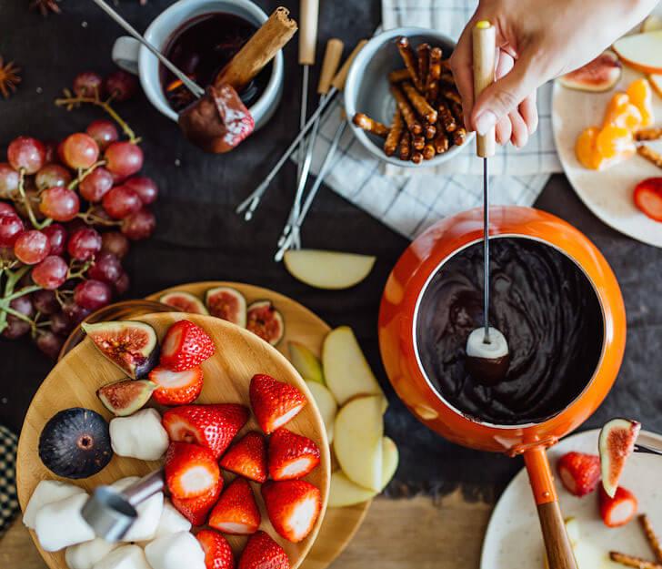 cómo organizar una fondue