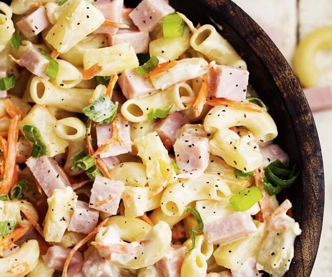 ensaladas de pasta con fruta