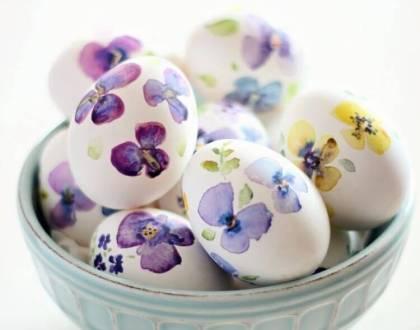 decorar huevos de Pascua con estilo