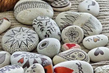 pintar piedras