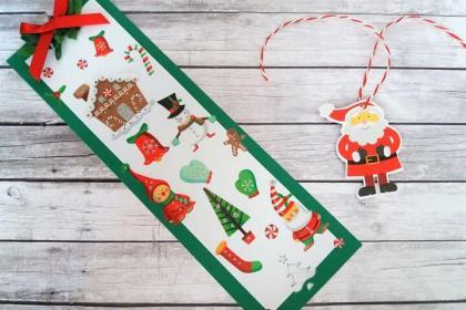 marcapáginas navideños