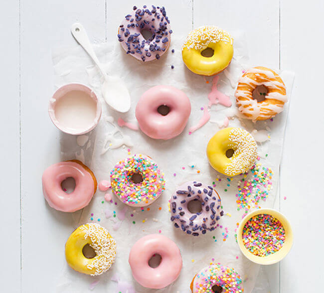 decorar donuts como glasa