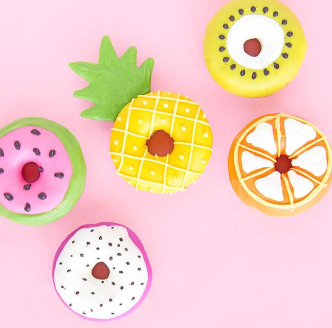 donuts frutas