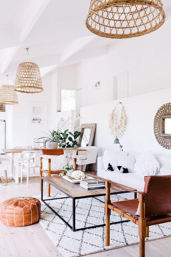 espacio diáfano con estilo bohemio