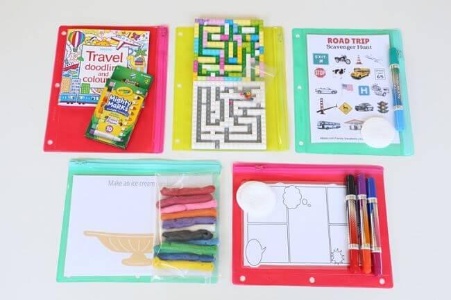 kits de juegos para viajar con niños