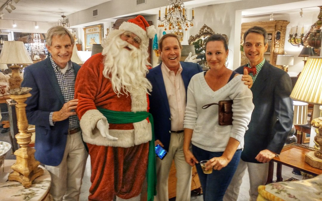 Santa Visits Churchill Galleries on Antique Row
