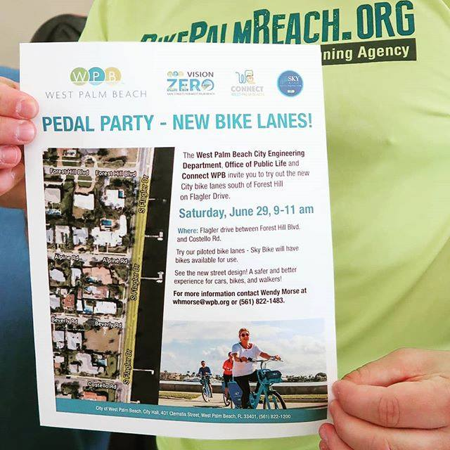 The City's flyer on the Flagler Drive Pedal Party
