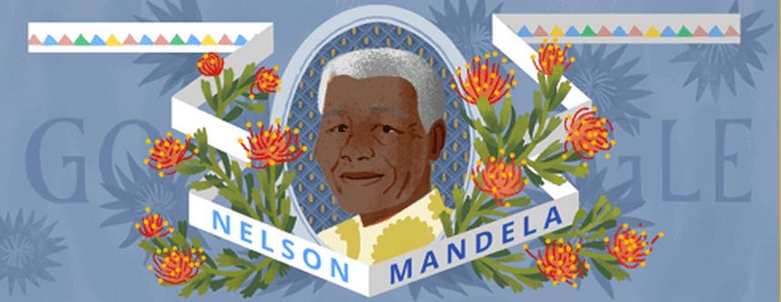 Google celebrates Nelson Mandela Day