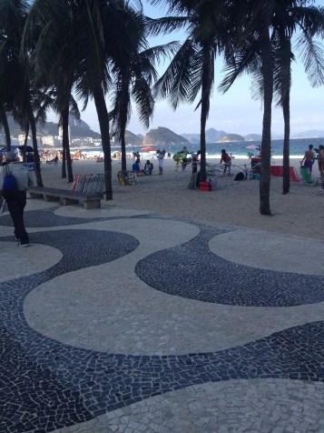 Copacabana pludmale un slavenā promenāde