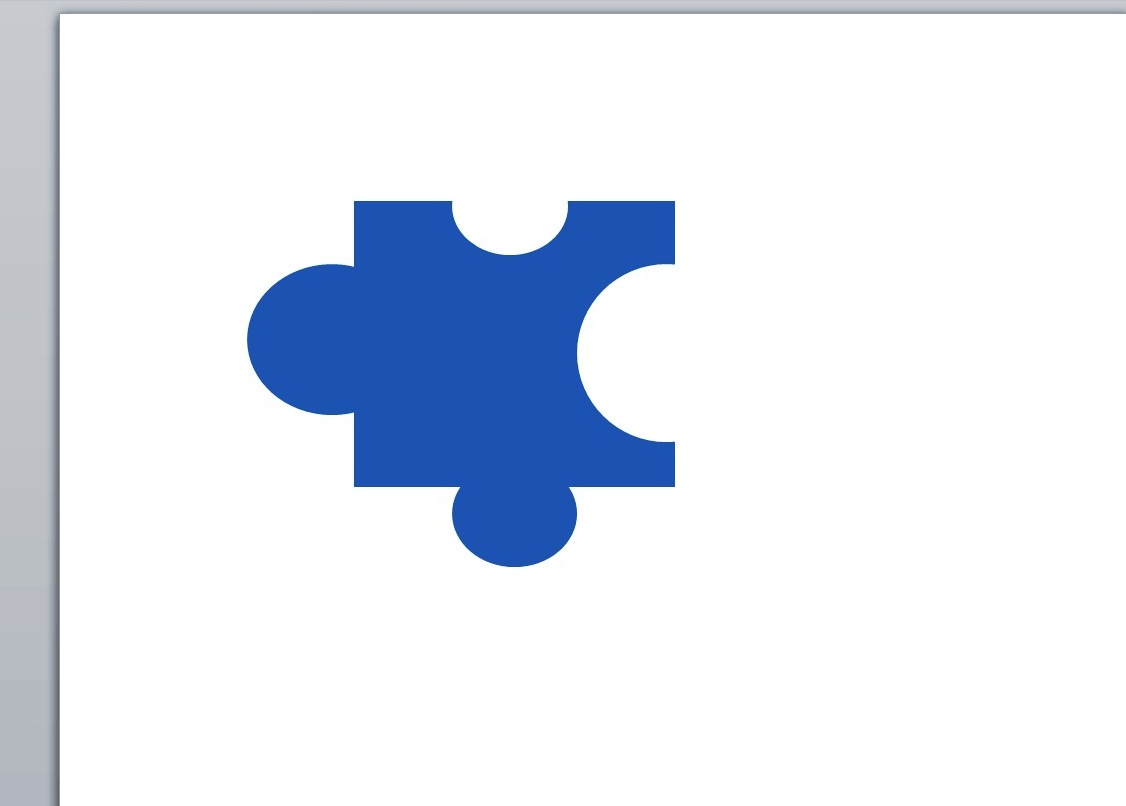 Creating A Jigsaw Puzzle Piece With Powerpoint Shapes