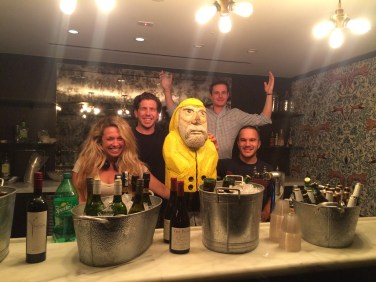 Captain Ahab of Ahab's Adventures at LinkedIn in the Empire State Building in NYC 2015