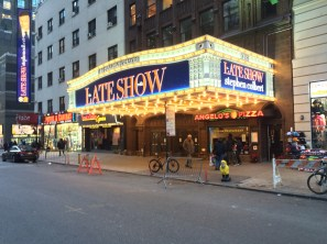 Captain Ahab of Ahab's Adventures checking out the Late Show in NYC 2015