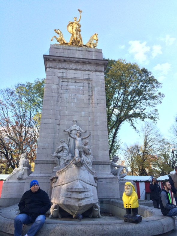 Captain Ahab of Ahab's Adventures outside Central Park in NYC 2015