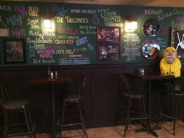Captain Ahab of Ahab's Adventures stopping in McGirk's Irish Pub for lunch in Binghampton, New York 2016